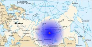 Mapa del evento de Tunguska