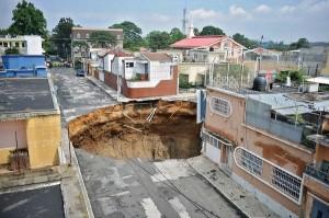 Extraño agujero en Guatemala