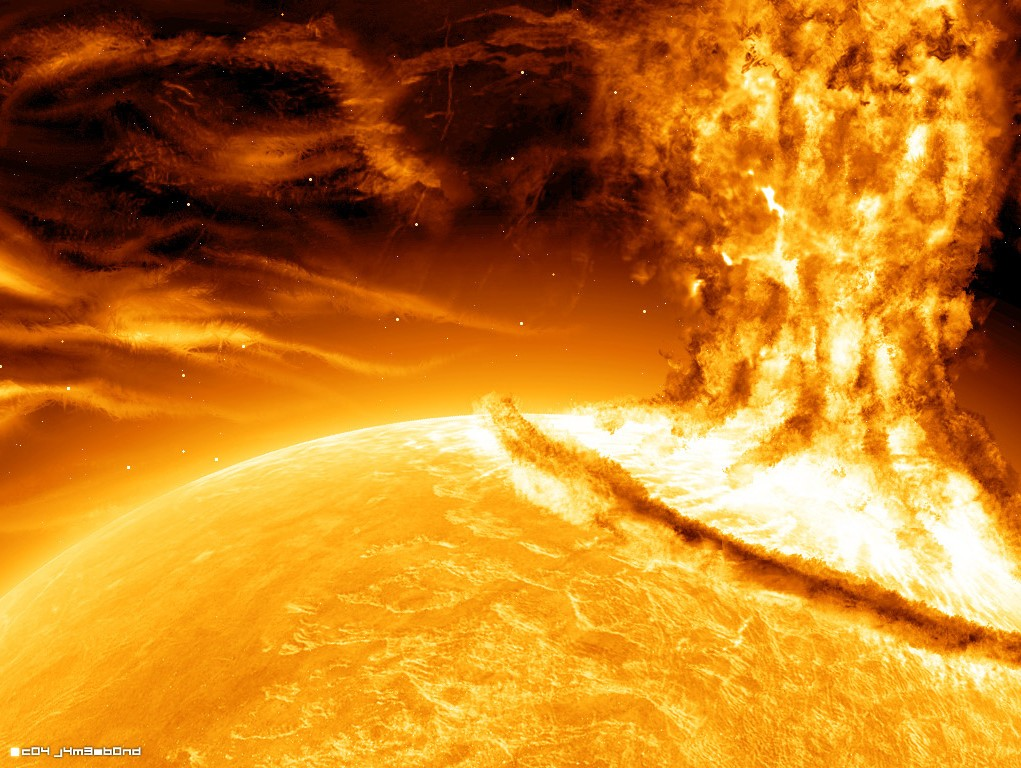 Tormenta solar de gran magnitud