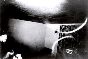 Arco de luz en la habitación de Doris Bither