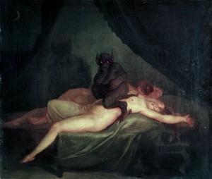 Demonios en nuestras pesadillas por Nicolaj Abraham Abildgaard e1347212713598 300x254 - ¿Demonios reales en nuestras pesadillas?
