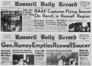 La prensa habló sobre el incidente de Roswell en 1947