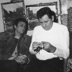 Tony Curtis y Peter Hurkos