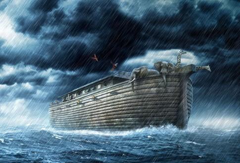 Resultado de imagen para IMagen de Noe y el diluvio universal