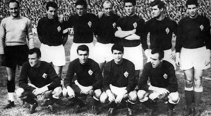 El equipo del fiorentina en 1954