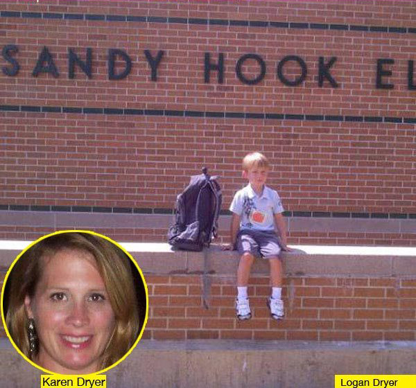 Logan Dryer y su madre Karen Dryer - ¿Logan Dryer fue testigo de su propio futuro en Sandy Hook?