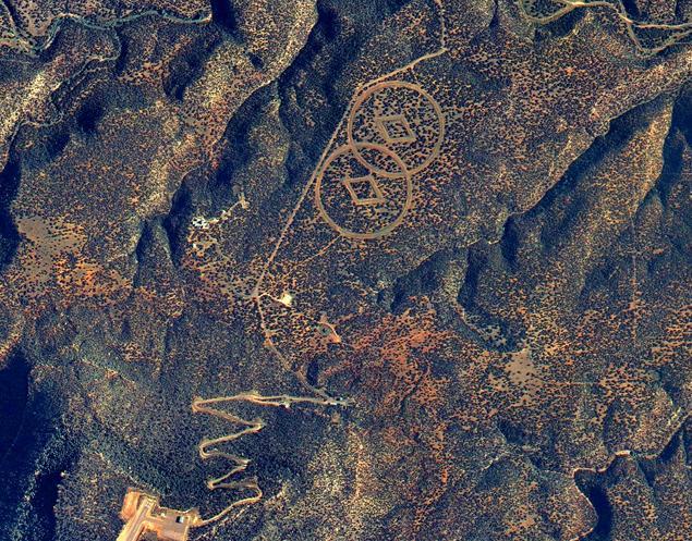 Vista aerea de la Base de Trementina - Descubierto uno de los grandes secretos de la Cienciología