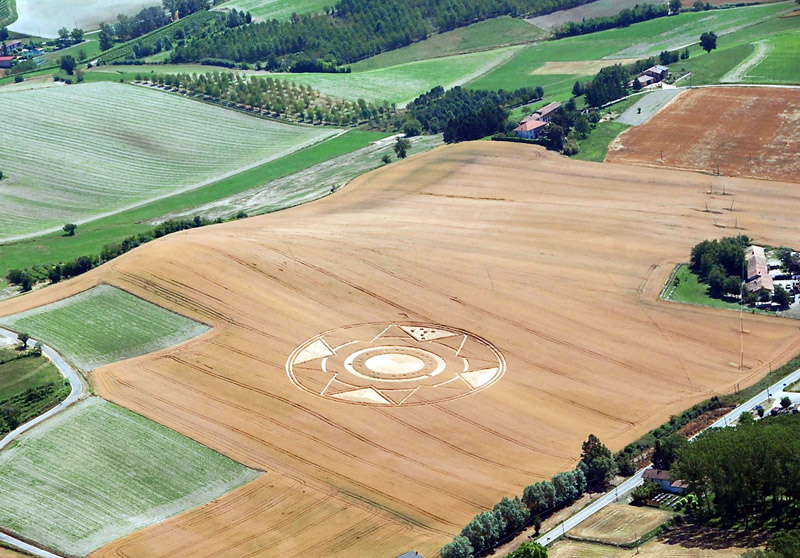 Nuevo circulo en los cultivos en Italia