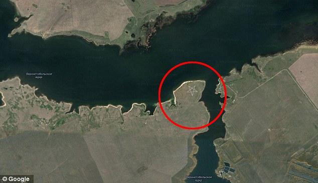 Pentagrama gigante en Kazajstan - Google Maps muestra un misterioso pentagrama gigante en Kazajstán