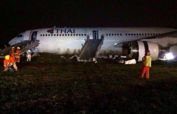 Avión accidentado en Tailandia
