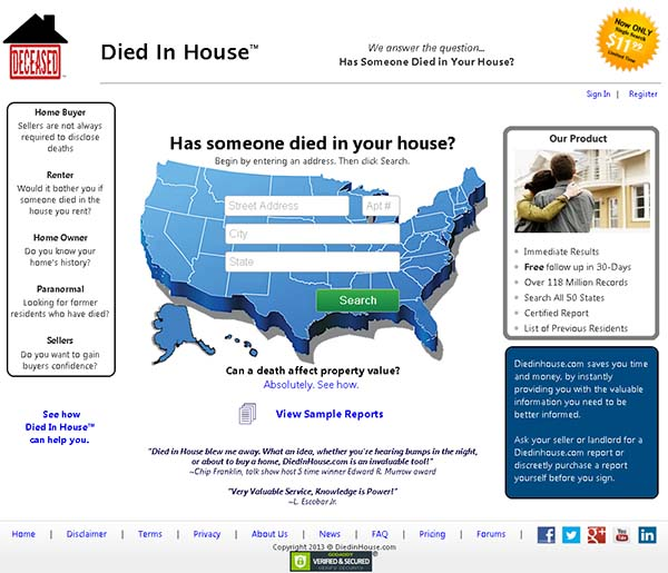 Died in House ¿Quieres conocer quien murió en tu casa encantada?