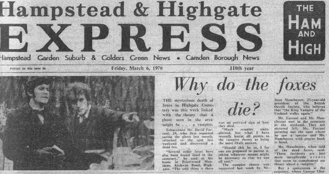 Vampiro de Highgate 1970 El vampiro del cementerio de Highgate