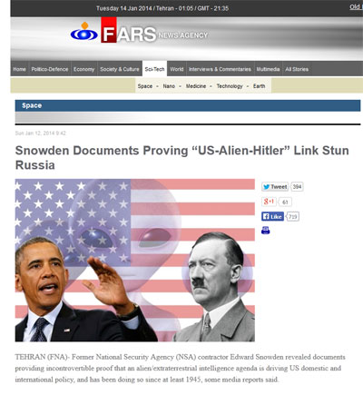 EEUU dirigido extraterrestres Agencia de noticias afirma que nuevos documentos de Snowden prueban que los EE.UU. está secretamente dirigido por extraterrestres