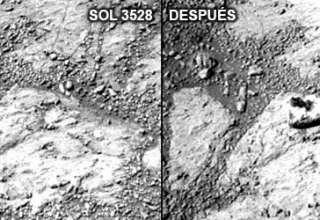 Misteriosa roca Marte 320x220 - Aparece una misteriosa roca cerca del rover Opportunity en Marte