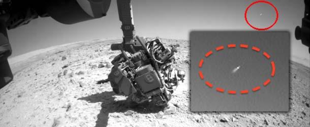 rover curiosity nasa ovni marte - El rover Curiosity de la NASA fotografía un OVNI en Marte