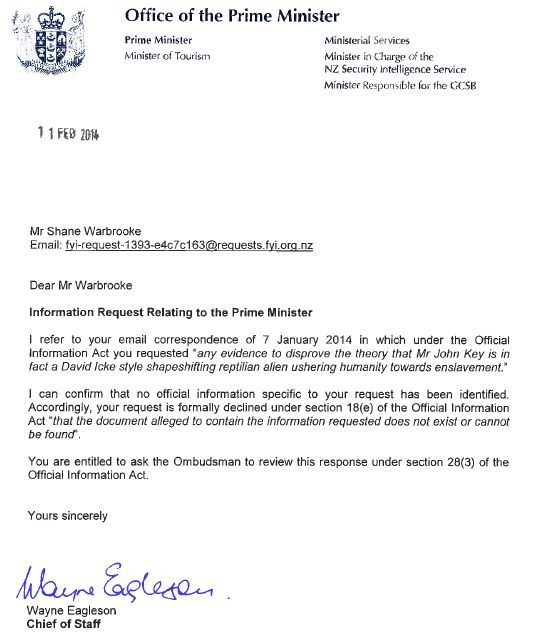 Solicitud ley información oficial
