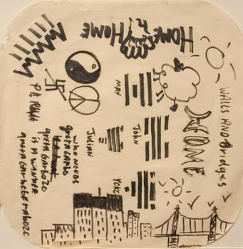 avistamiento ovni john lennon 2 - Se subasta el dibujo de un avistamiento OVNI de John Lennon