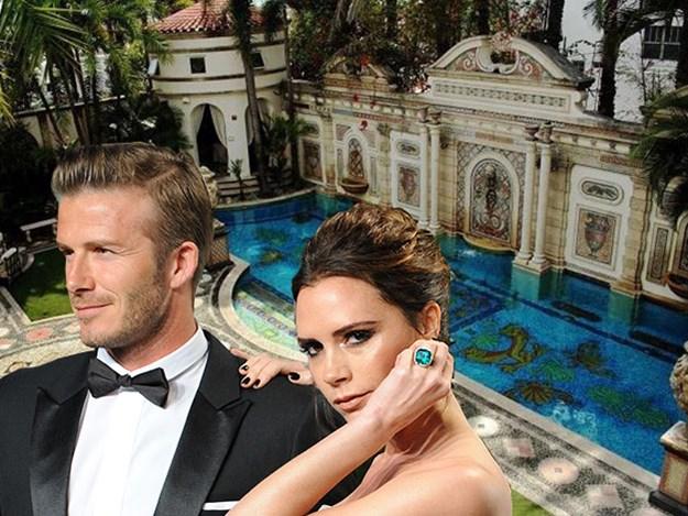 beckham versace - Los Beckham compran la mansión embrujada de Versace