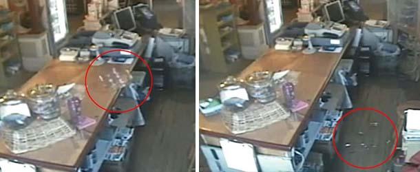 Una cámara de vigilancia capta fenómenos paranormales en el interior de una tienda