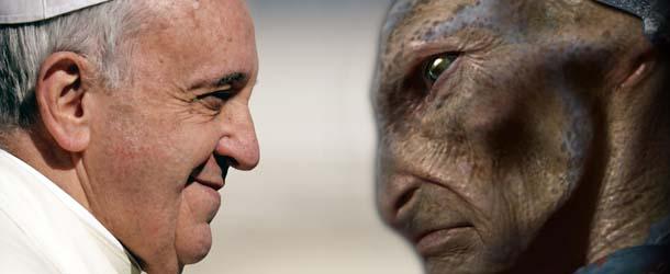 Resultado de imagen para papa francisco y los extraterrestres