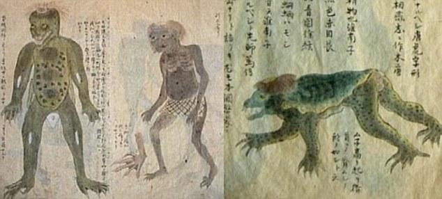 japon restos momificados demonio agua - Se exhiben en Japón los restos momificados de un demonio de agua
