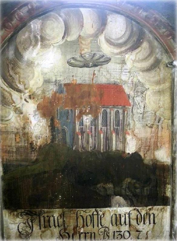 onvi antigua pintura rumania - Descubren un OVNI en una antigua pintura en Rumania