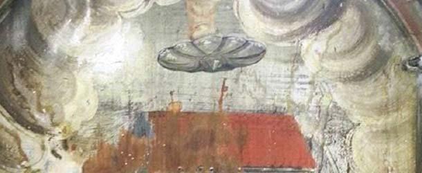 ovni pintura rumania - Descubren un OVNI en una antigua pintura en Rumania