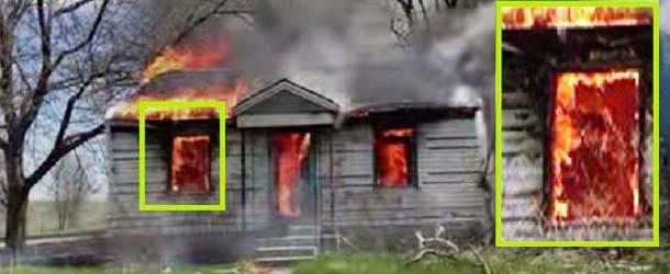 bombero presencia fantasmal - Bombero fotografía una presencia fantasmal en una casa en llamas