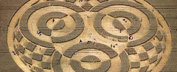 Aparece un enorme círculo de las cosechas en un campo de Alemania