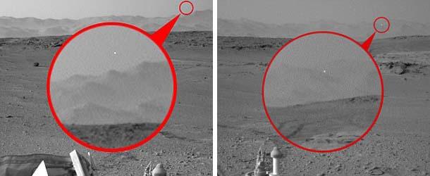 rover curiosity ovni marte - El Rover Curiosity vuelve a fotografiar un OVNI en Marte