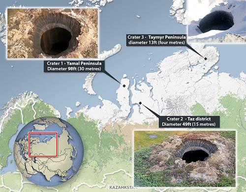 Se multiplican misteriosos agujeros Siberia