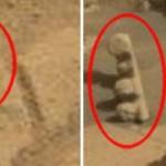 """El rover Curiosity fotografía una extraña esfera y un """"tótem"""" en Marte"""