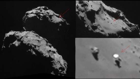 ovni superficie cometa 67p ¿Hay una base extraterrestre en el interior del cometa de Rosetta?