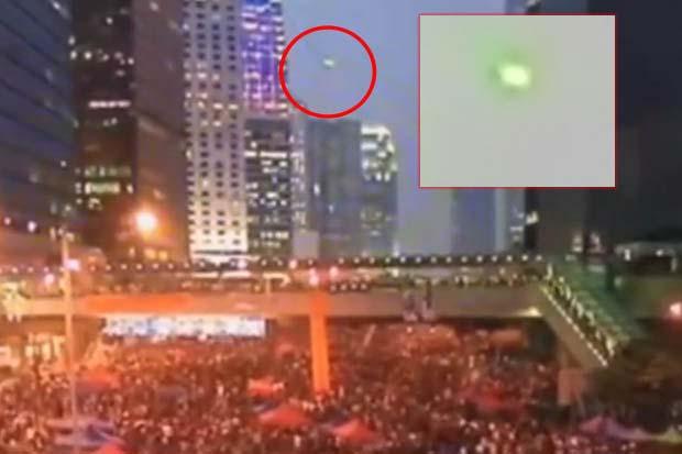 ovni protestas hong kong Sorprendente OVNI aparece durante las protestas de Hong Kong