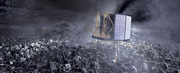 base extraterrestre rosetta - ¿Hay una base extraterrestre en el interior del cometa de Rosetta?