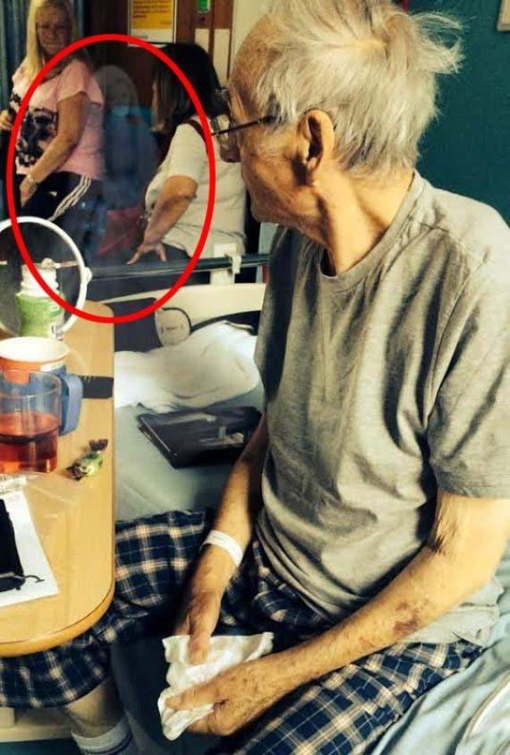 cancer figura fantasmal - Un hombre con cáncer terminal se recupera milagrosamente después de fotografiar una figura fantasmal