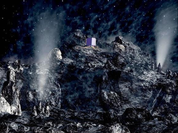 extraterrestre cometa rosetta - ¿Hay una base extraterrestre en el interior del cometa de Rosetta?