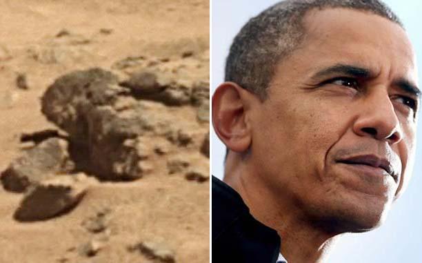 nasa obama marte - Imagen de la NASA parece mostrar una estatua de Obama en Marte