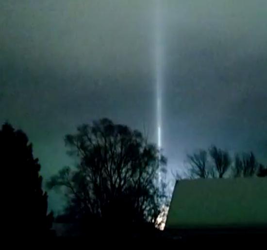 Misterioso rayo luz central eléctrica Míchigan