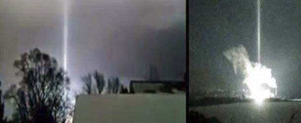 Misterioso rayo de luz aparece durante la explosión de una central eléctrica en Míchigan