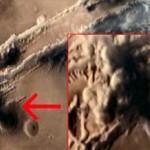 Sonda espacial fotografía un hongo nuclear en Marte