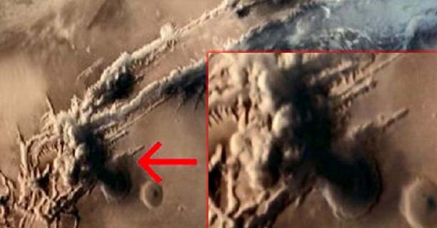 hongo nuclear marte - Sonda espacial fotografía un hongo nuclear en Marte