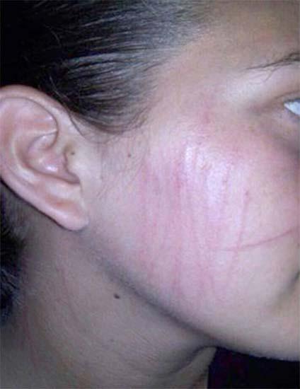 Mujer policía afirma atacada fantasma