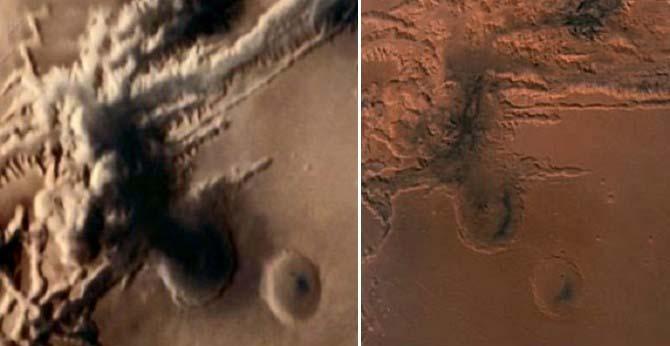 sonda espacial hongo nuclear marte - Sonda espacial fotografía un hongo nuclear en Marte
