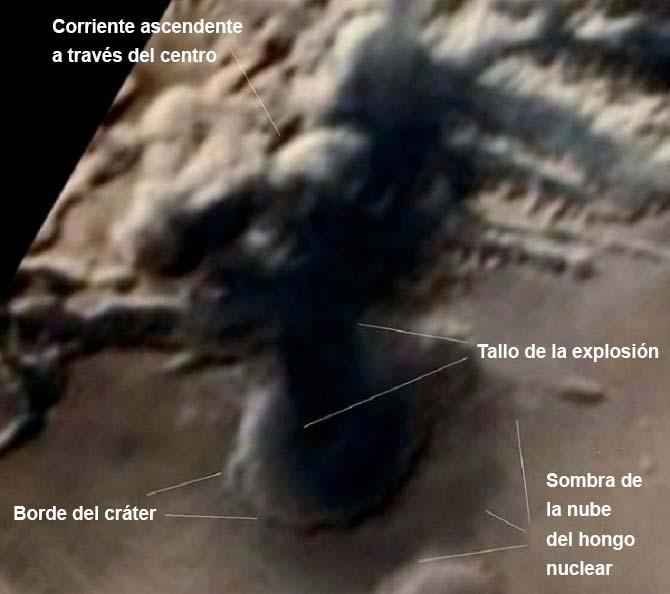 sonda espacial hongo nuclear - Sonda espacial fotografía un hongo nuclear en Marte