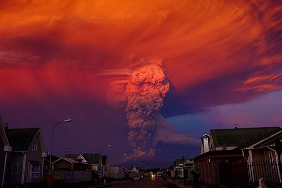 Cile eruzione