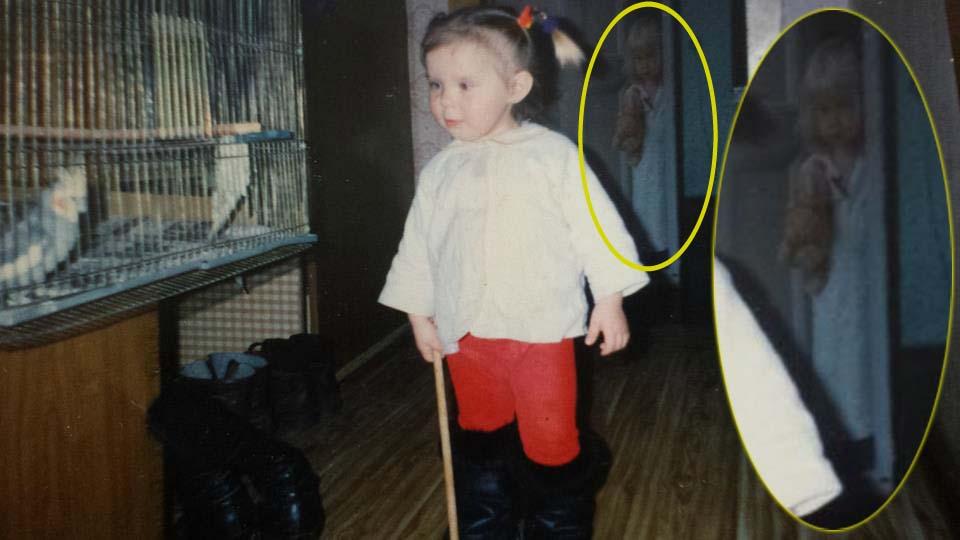 Figura fantasmal niña fotografía infancia