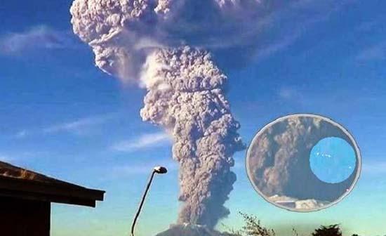Ovnis erupción volcán Calbuco