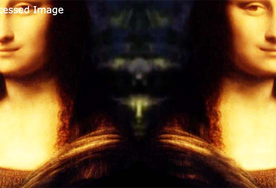 ser extraterrestre oculto mona lisa - Descubren la figura de un ser extraterrestre oculto en la Mona Lisa