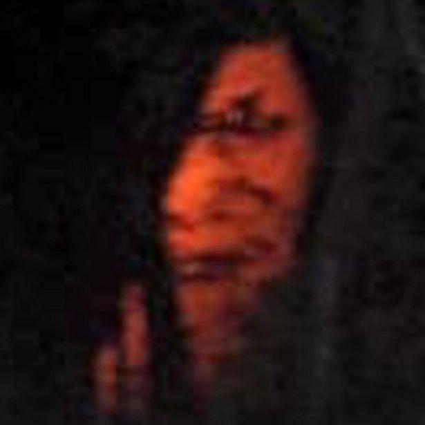 Terrorífico rostro en la fotografía pescador